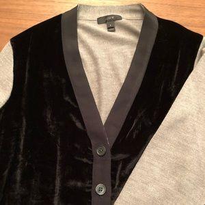 JCrew Grey/Black Cardigan
